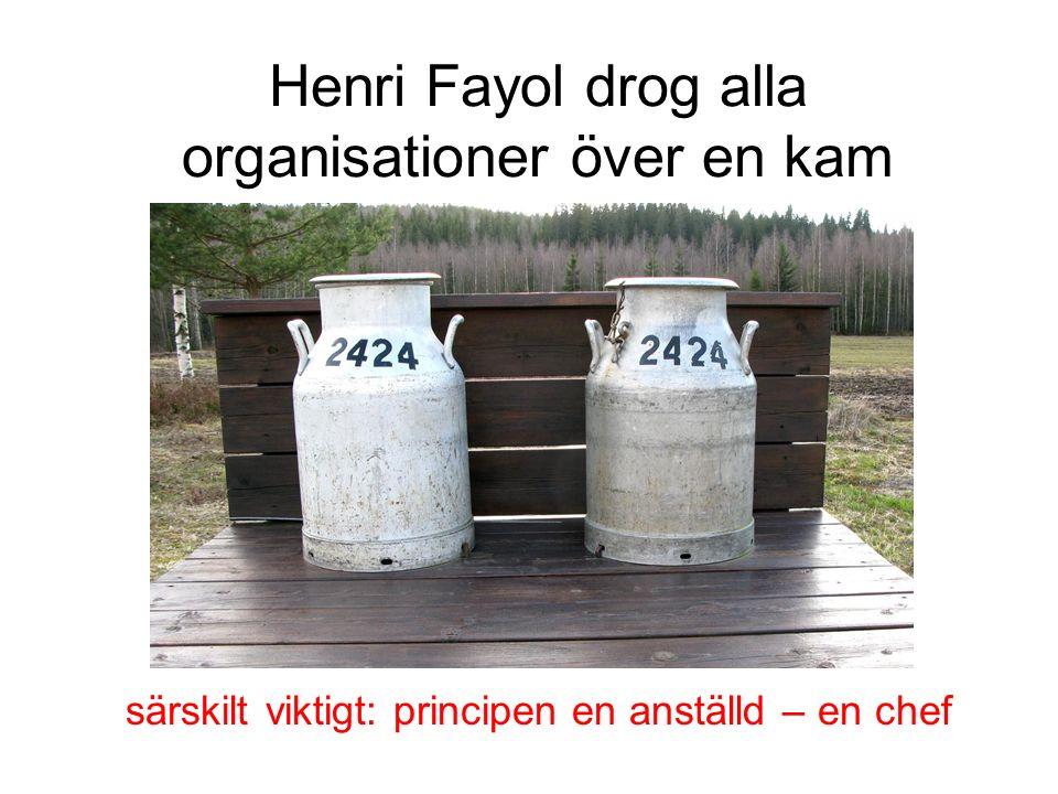 Henri Fayol drog alla organisationer över en kam särskilt viktigt: principen en anställd – en chef