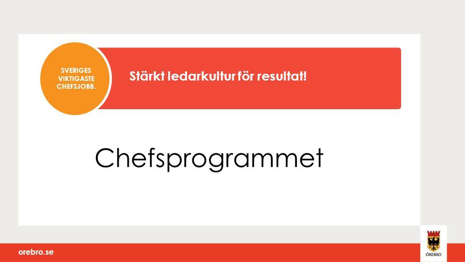 Chefsprogrammet SVERIGES VIKTIGASTE CHEFSJOBB. Stärkt ledarkultur för resultat!