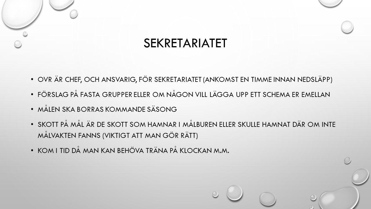 TRÄNINGAR NÄRVARON – MELLAN 17 OCH 90 % TRÄNINGSNÄRVARO (TRÄNINGSMÄNGD-MATCHER) SVAR PÅ KALLELSER HAR BLIVIT NÅGOT BÄTTRE BARMARKSTRÄNING OCH INDIVIDUELLT SOMMARPROGRAM ORDNINGEN FÖR NÄSTA SÄSONG: JOCKE HAR ORDET