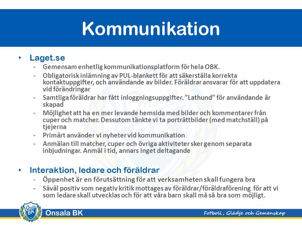 Laget.se -Gemensam enhetlig kommunikationsplatform för hela OBK.