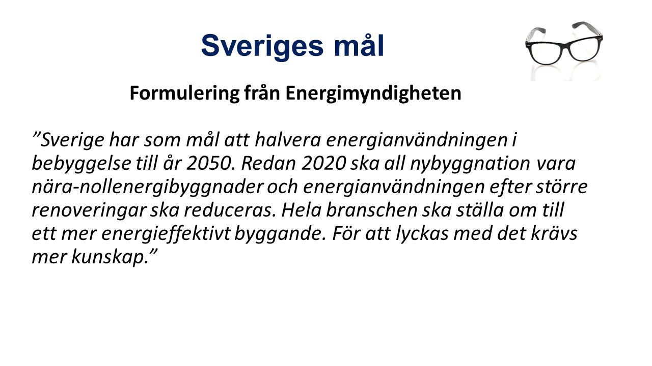 Andra utbildningsprojekt pågår för att nå yrkesverksamma i branschen (tex Build up skills Sverige, Energibyggare) Yrkeslärarna en oerhört viktig grupp för omställning till energieffektivt byggande – stor påverkan på framtiden Behov att öka kunskapen om hållbart byggande och energieffektivisering hos yrkeslärarna Att ge Nya Glasögon – att alltid ha omställningsfrågan i fokus – ha kunskap om och införa i undervisningen av framtidens yrkesarbetare Varför Nya Glasögon?