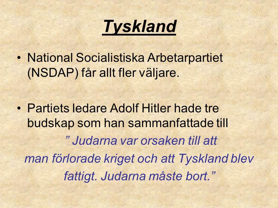 Tyskland National Socialistiska Arbetarpartiet (NSDAP) får allt fler väljare.