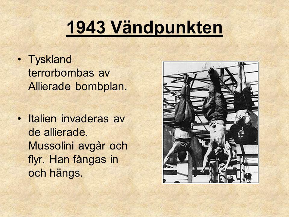 1943 Vändpunkten Tyskland terrorbombas av Allierade bombplan.