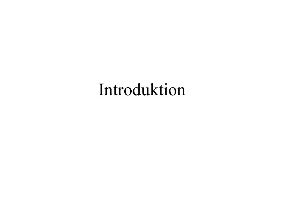 Introduktion