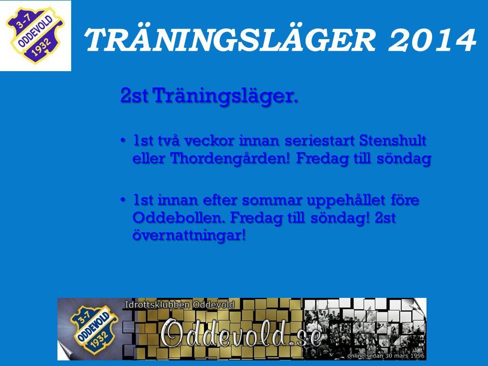TRÄNINGSLÄGER 2014 2st Träningsläger.