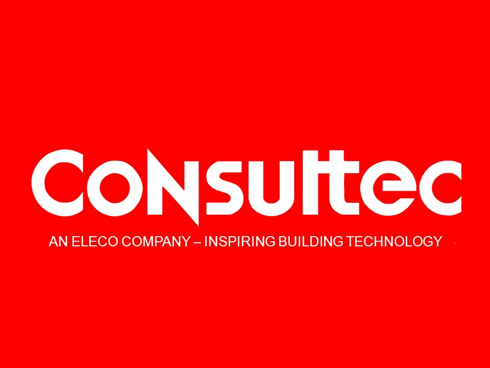 AN ELECO COMPANY – INSPIRING BUILDING TECHNOLOGY