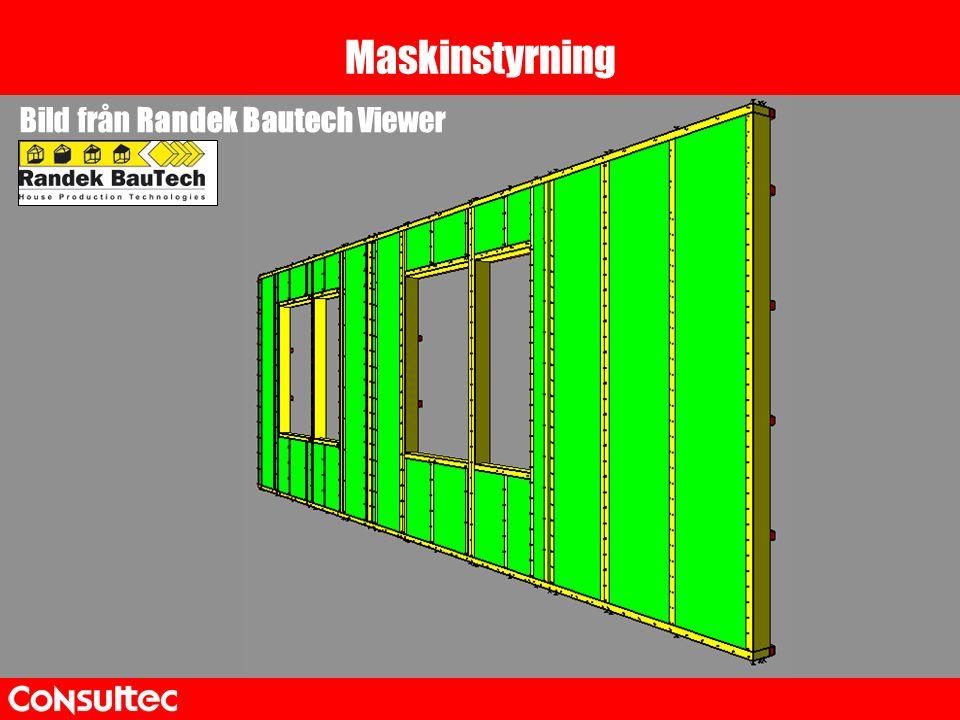Maskinstyrning Koppla genererade filer till maskin Bild från Randek Bautech Viewer