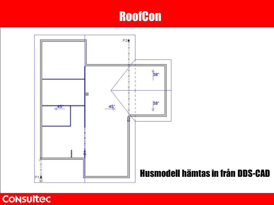 RoofCon Husmodell hämtas in från DDS-CAD