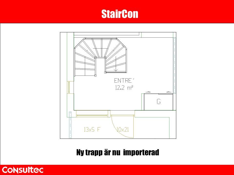 StairCon Ny trapp är nu importerad