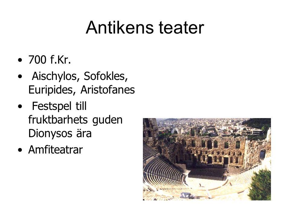 Antikens teater 700 f.Kr.