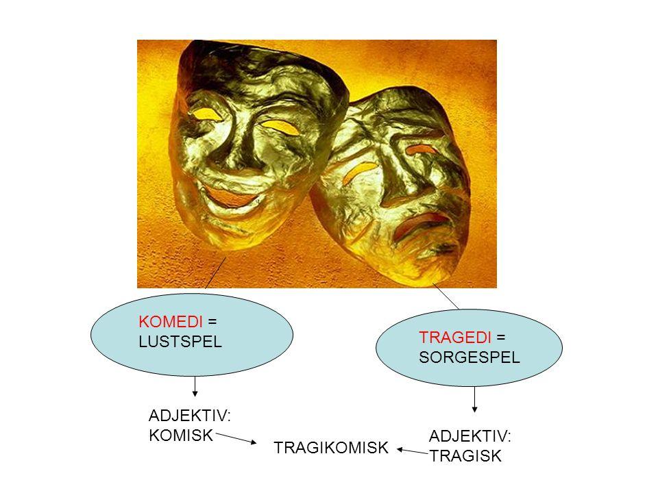 Commedia dell'arte Italiensk fars på 1500-talet Standardfigurer, t.ex.