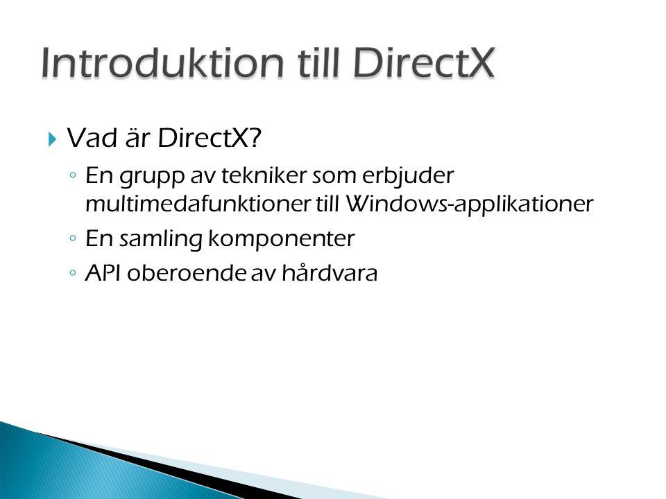  Vad är DirectX.
