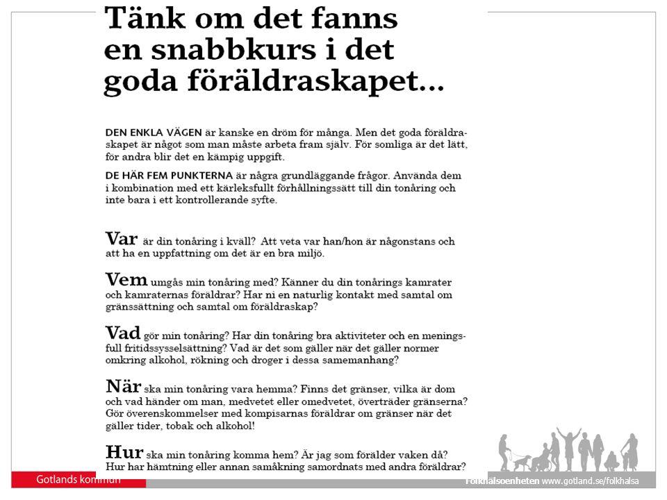 Folkhälsoenheten www.gotland.se/folkhalsa