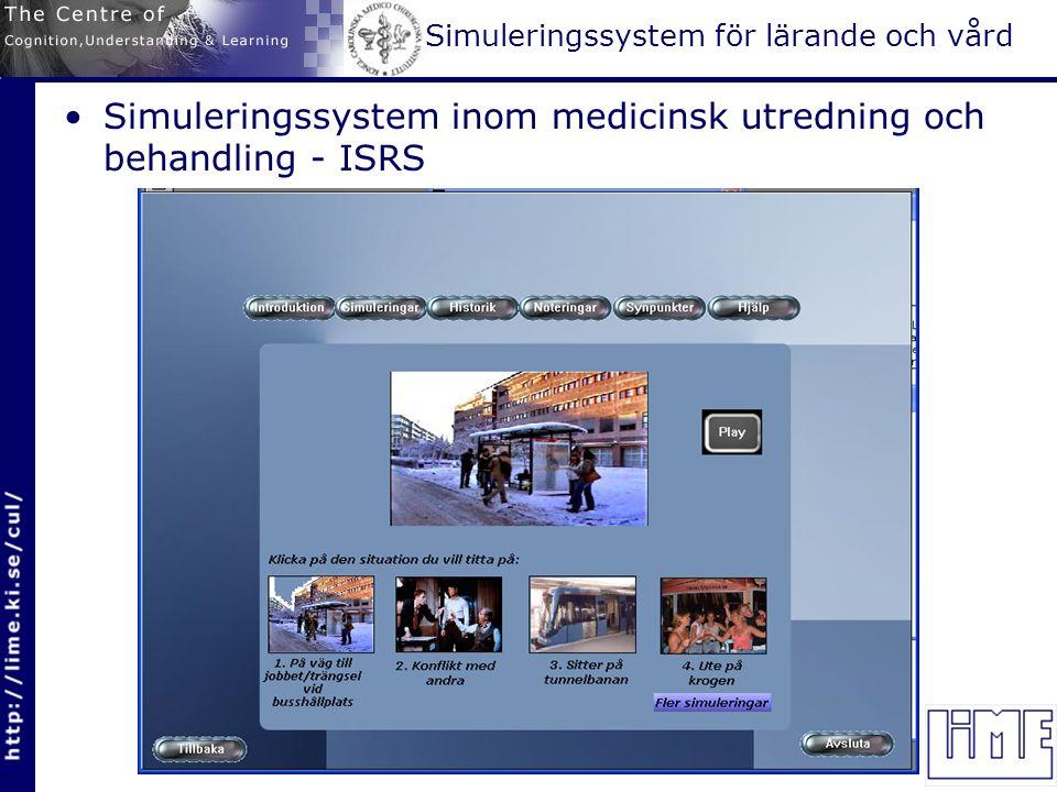 Simuleringssystem för lärande och vård Simuleringssystem inom medicinsk utredning och behandling - ISRS