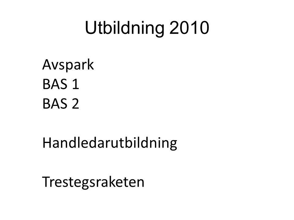 Utbildning 2010 Avspark BAS 1 BAS 2 Handledarutbildning Trestegsraketen