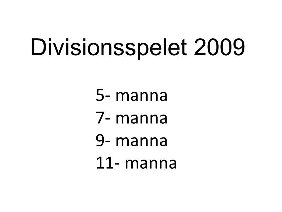 Divisionsspelet 2009 5- manna 7- manna 9- manna 11- manna