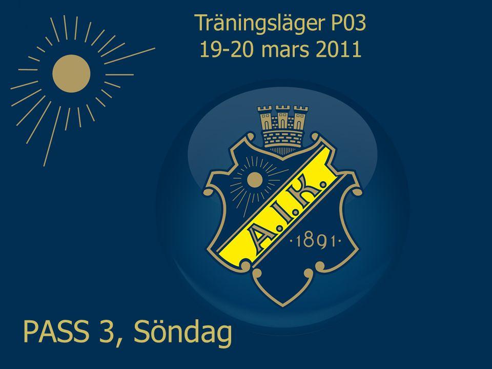 Träningsläger P03 19-20 mars 2011 PASS 3, Söndag