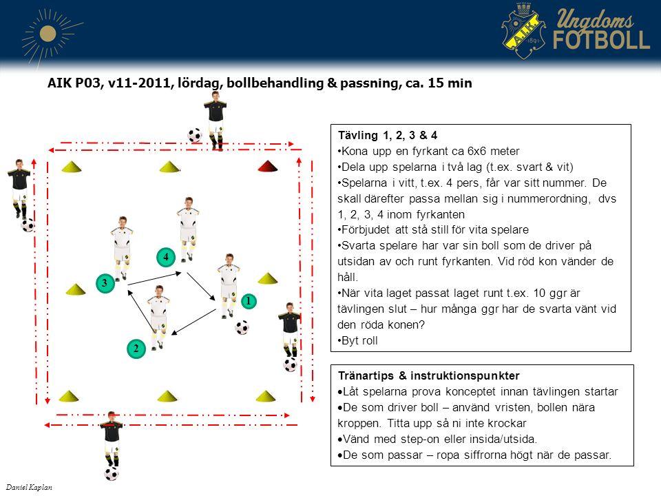 Tränartips & instruktionspunkter  Låt spelarna prova konceptet innan tävlingen startar  De som driver boll – använd vristen, bollen nära kroppen.