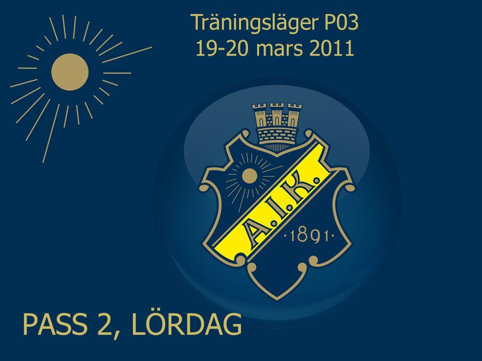 Träningsläger P03 19-20 mars 2011 PASS 2, LÖRDAG