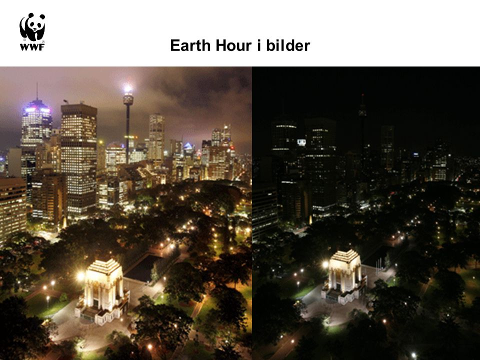 Earth Hour i bilder