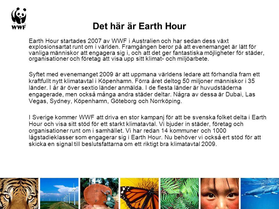 Earth Hour startades 2007 av WWF i Australien och har sedan dess växt explosionsartat runt om i världen.