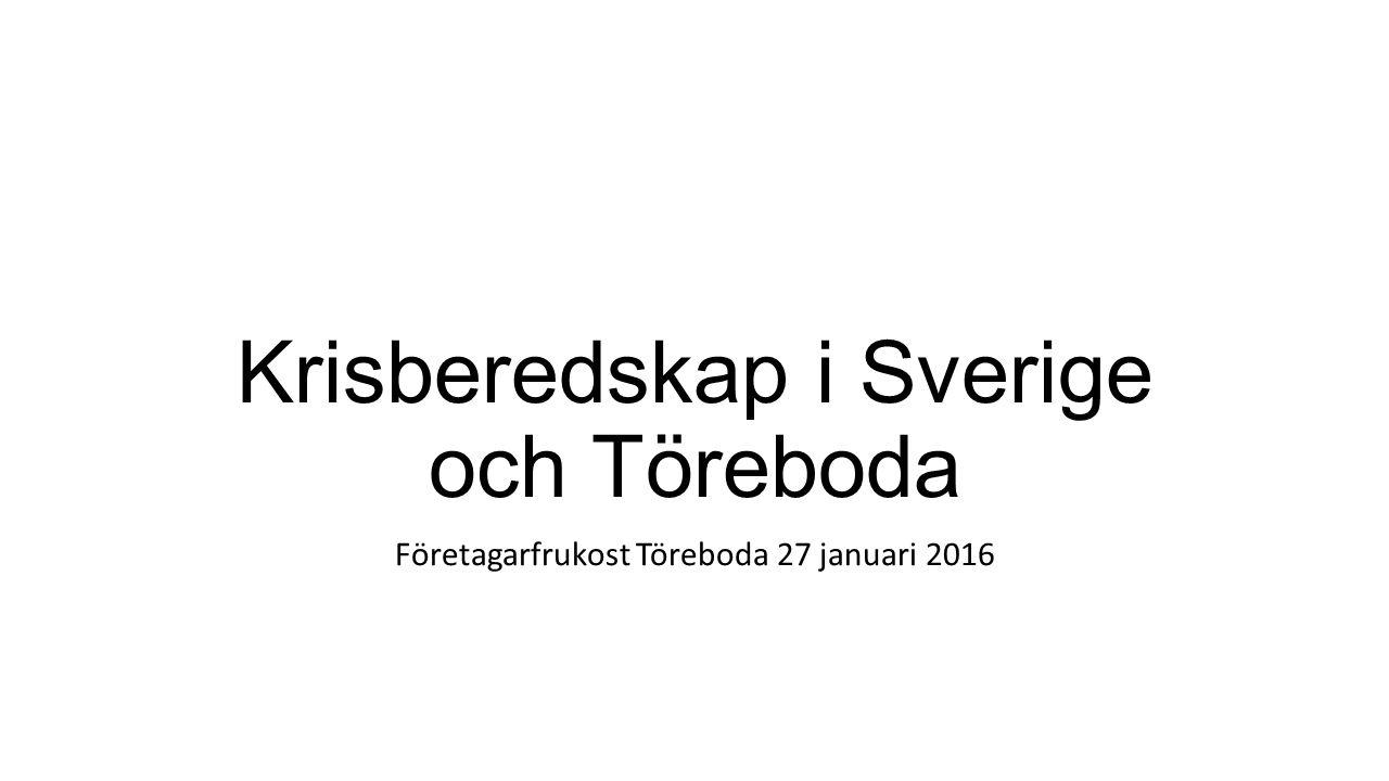 Krisberedskap i Sverige och Töreboda Företagarfrukost Töreboda 27 januari 2016