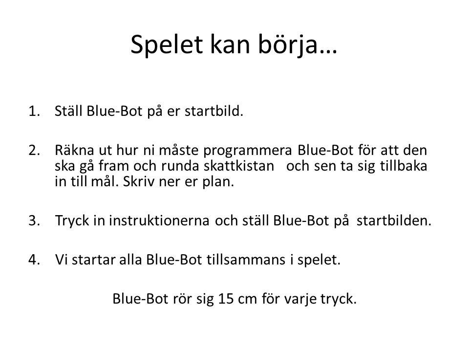 Spelet kan börja… 1.Ställ Blue-Bot på er startbild.