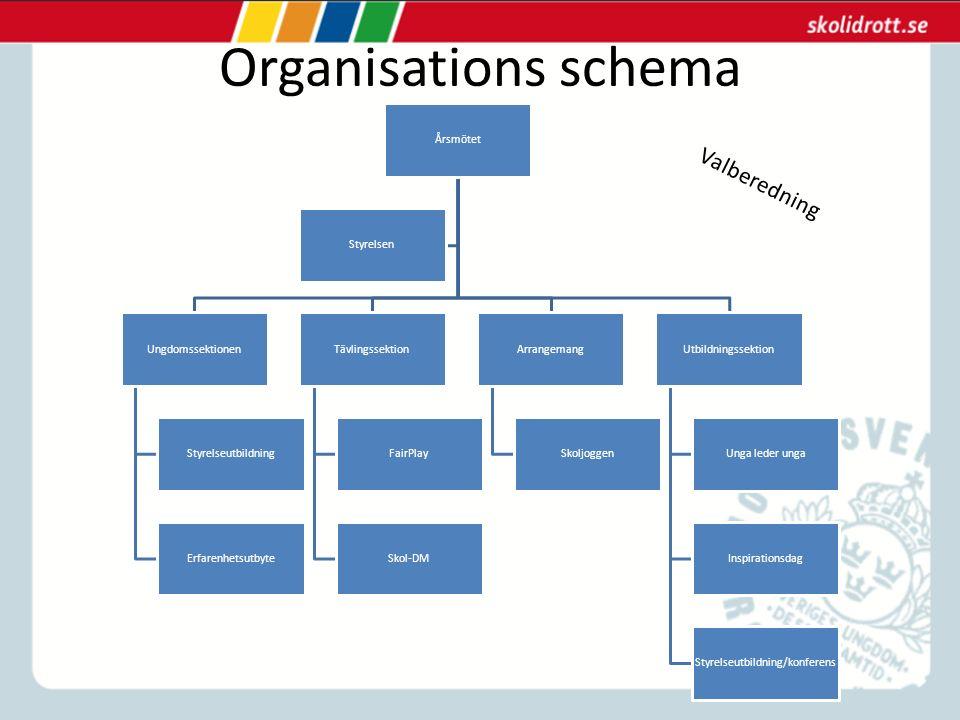 Fokuspunkter Utifrån vårt organisationsschema finns det vissa saker vi skulle vilja fokusera lite extra på inom varje område.
