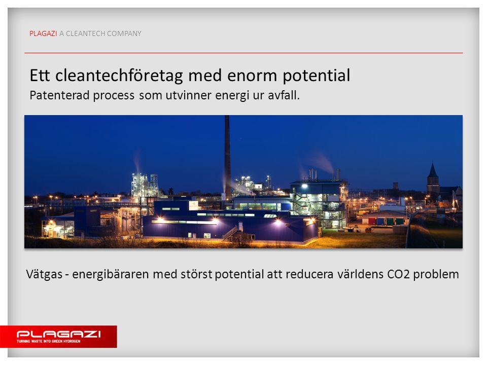 Ett cleantechföretag med enorm potential Patenterad process som utvinner energi ur avfall.