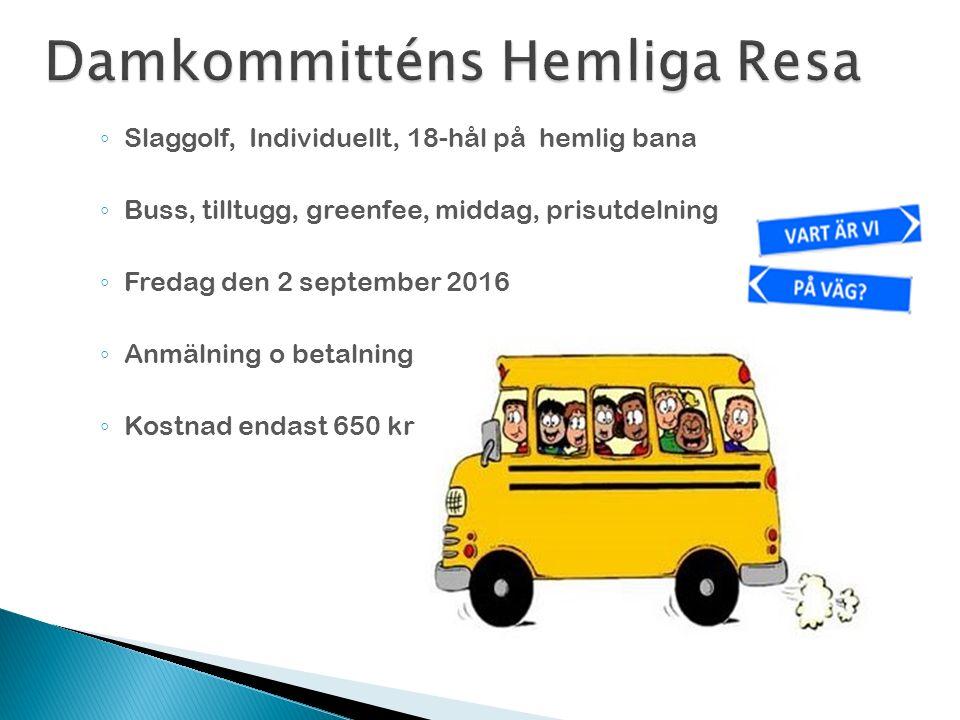  Denna presentation läggs ut på hemsidan samt övrig Info  http://www.sjogarde.se/se/kommitt-er/dam http://www.sjogarde.se/se/kommitt-er/dam