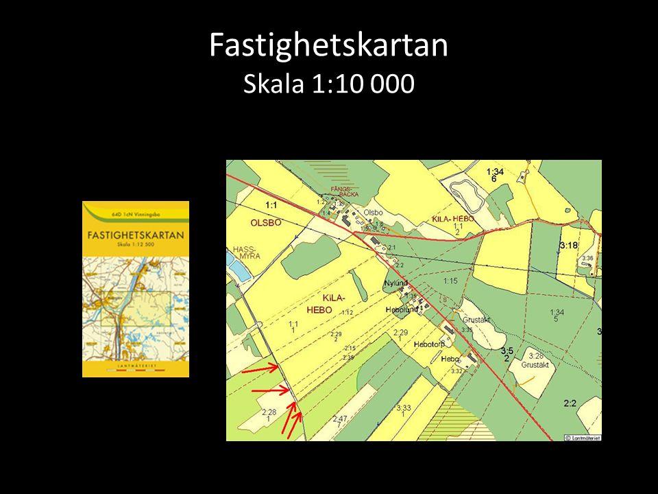 Fastighetskartan Skala 1:10 000