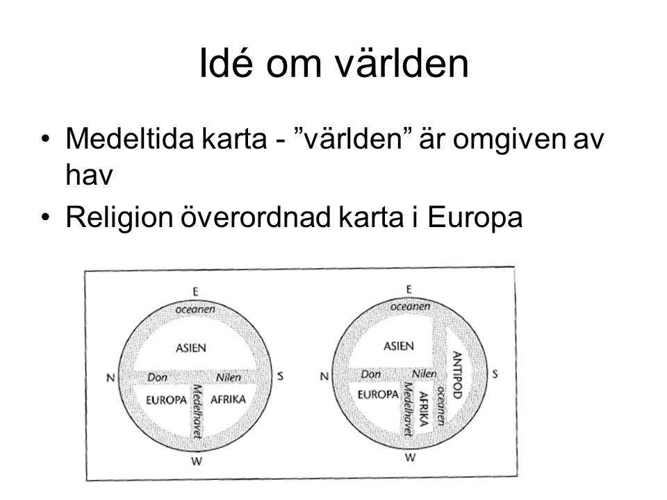 Idé om världen Medeltida karta - världen är omgiven av hav Religion överordnad karta i Europa