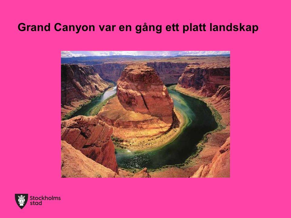 Grand Canyon var en gång ett platt landskap