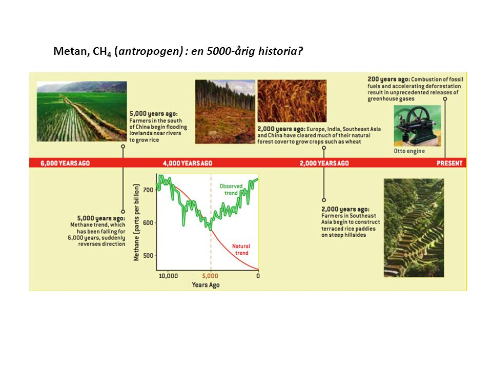 Metan, CH 4 (antropogen) : en 5000-årig historia