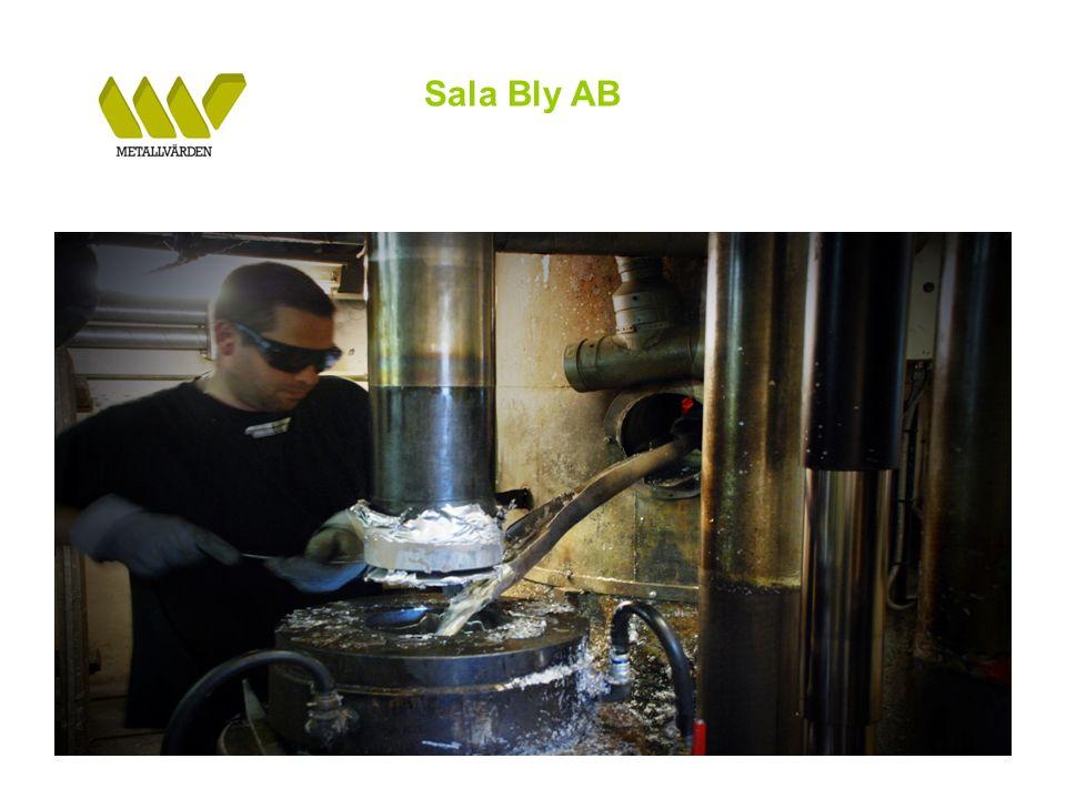Sala Bly AB Metallvärden i Lesjöfors har på kort tid byggts upp till att vara En effektiv anläggning för återvinning och omsmältning av Al-skrot Produkten DABS har med framgång introducerats hos stora svenska stålverk Produktionsutveckling Produktionsstart i Q3 2009 Gradvis ökad produktion – årstakt under Q2 2010 ca 1.300 ton Goda förutsättningar att under andra halvan av 2010 uppnå en produktionsvolym på ca 2.000 ton per år Anläggningen i Lesjöfors har en koncession på 3.000 årston Goda förutsättningar för god lönsamhet Framtiden På sikt tillföra ytterligare flera metallsmältande återvinningsverksamheter BILDER FRÅN SALA BLY