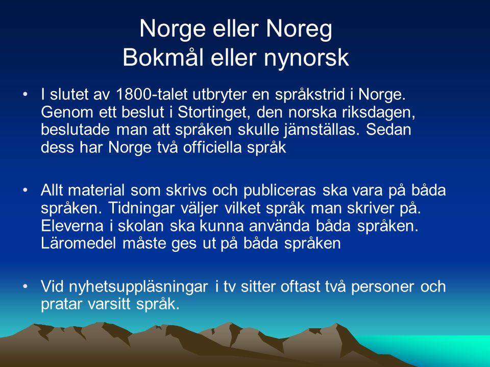 I slutet av 1800-talet utbryter en språkstrid i Norge. Genom ett beslut i Stortinget, den norska riksdagen, beslutade man att språken skulle jämställa