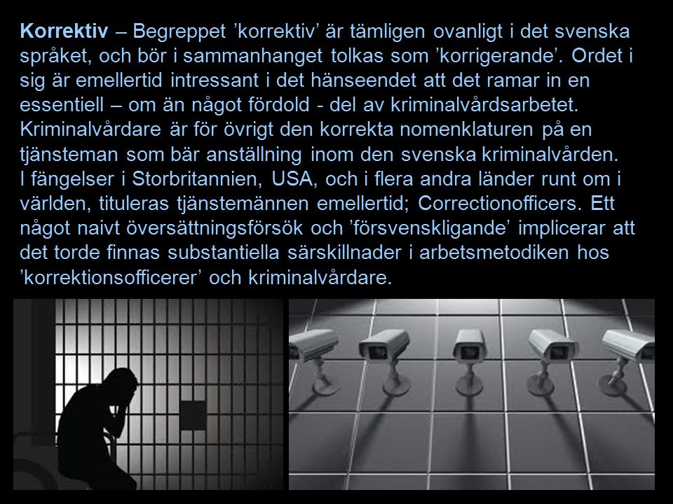 Korrektiv – Begreppet 'korrektiv' är tämligen ovanligt i det svenska språket, och bör i sammanhanget tolkas som 'korrigerande'.