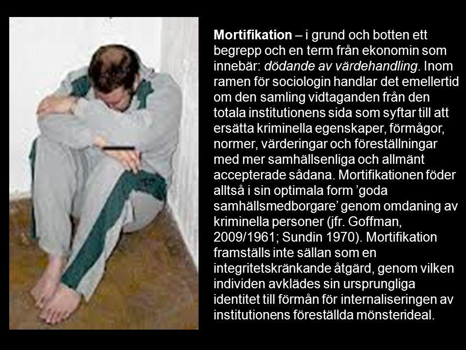 Mortifikation – i grund och botten ett begrepp och en term från ekonomin som innebär: dödande av värdehandling.