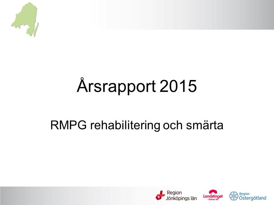 Årsrapport 2015 RMPG rehabilitering och smärta