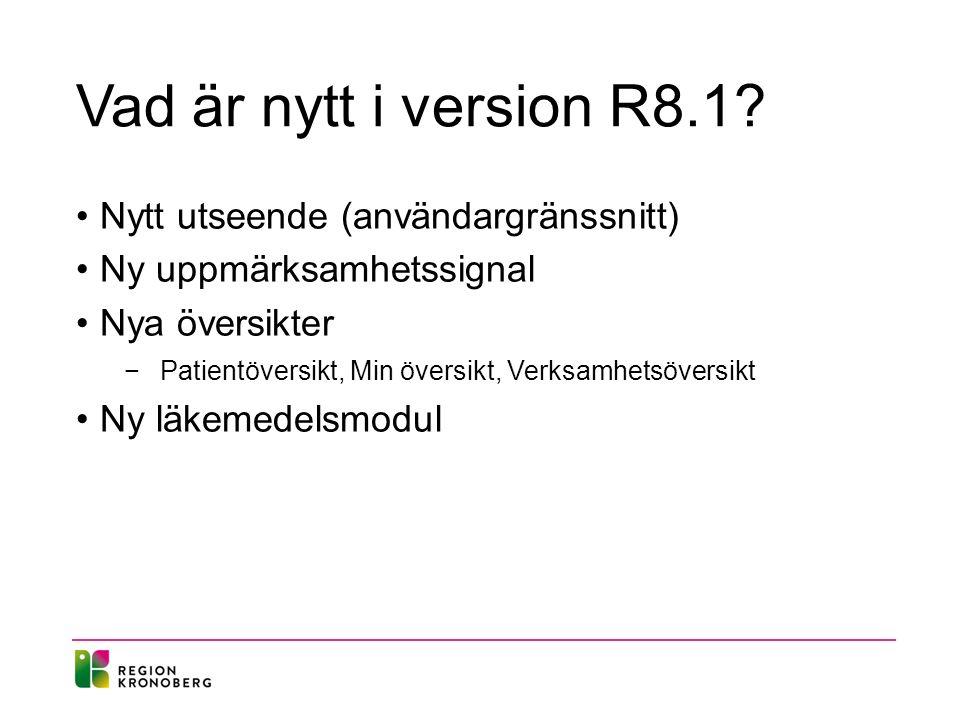Vad är nytt i version R8.1.