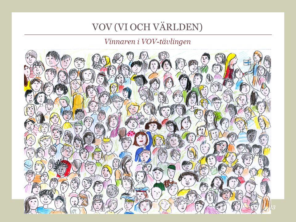 VOV (VI OCH VÄRLDEN) Vinnaren i VOV-tävlingen 13