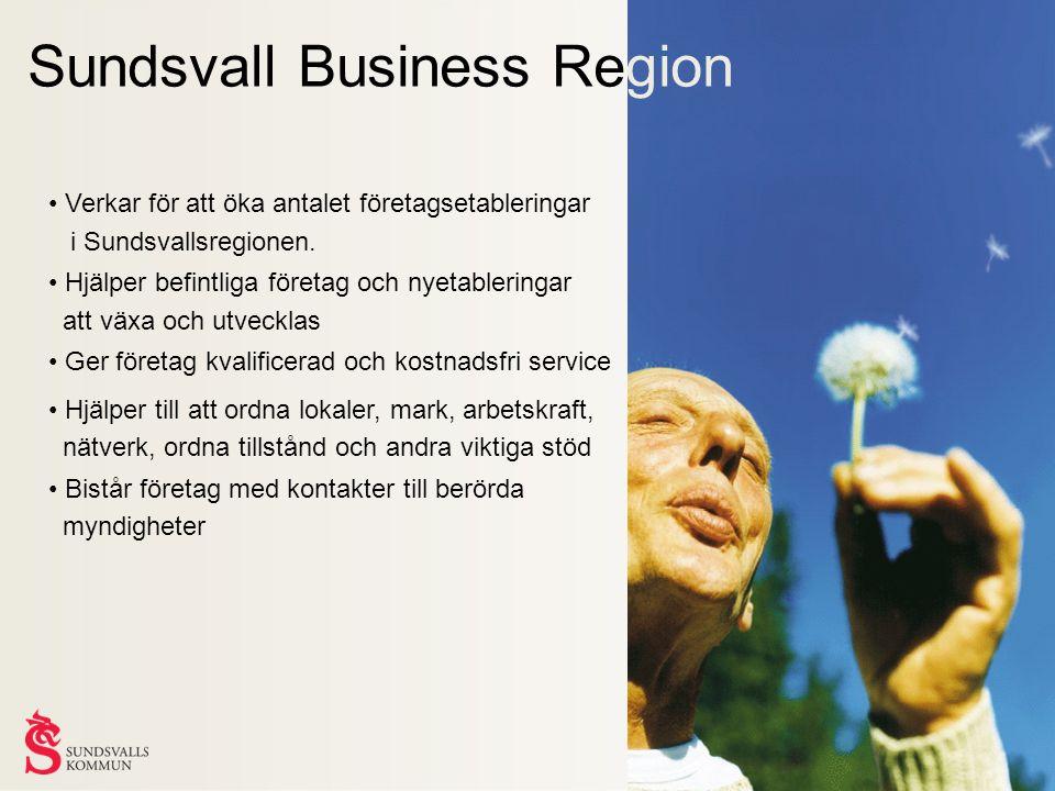Sundsvall Business Region Verkar för att öka antalet företagsetableringar i Sundsvallsregionen.