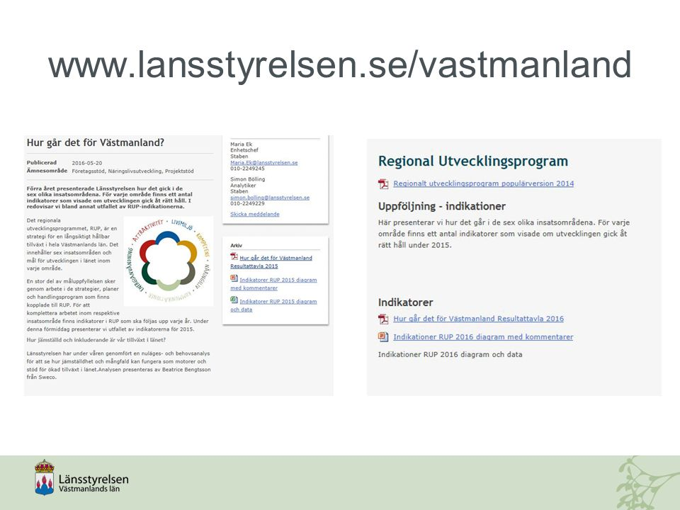 www.lansstyrelsen.se/vastmanland