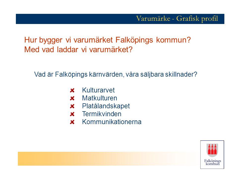 Varumärke - Grafisk profil Vad är Falköpings kärnvärden, våra säljbara skillnader.