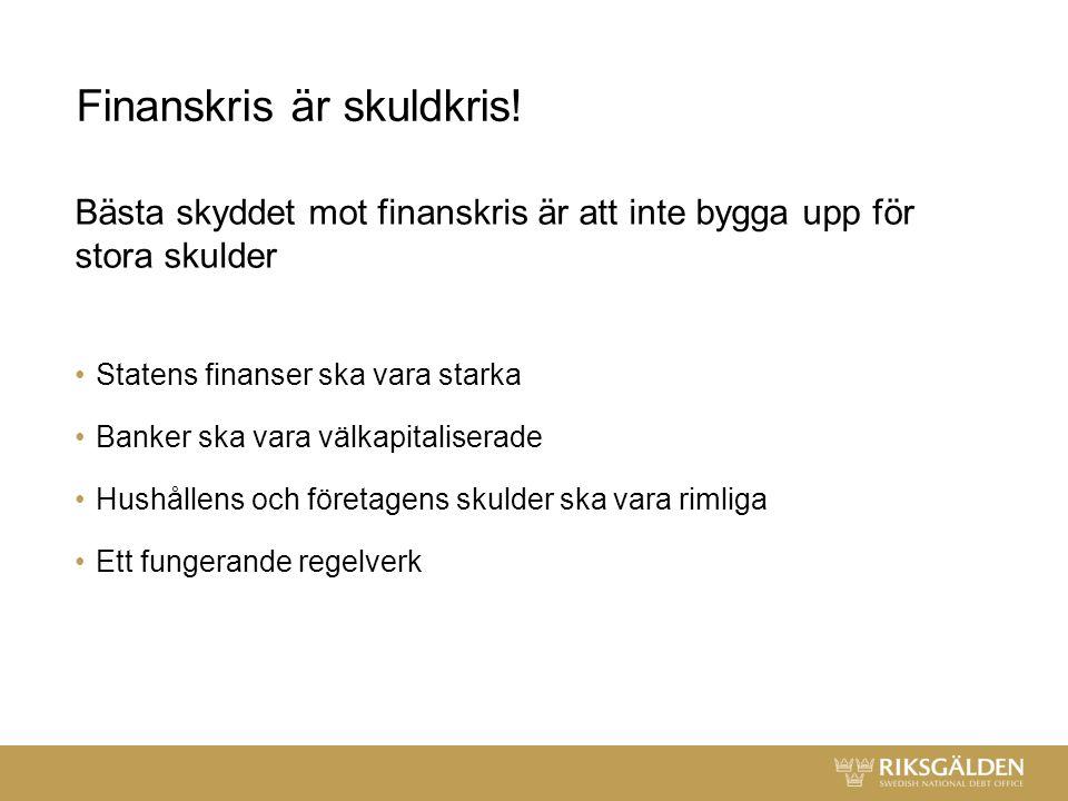 Finanskris är skuldkris.