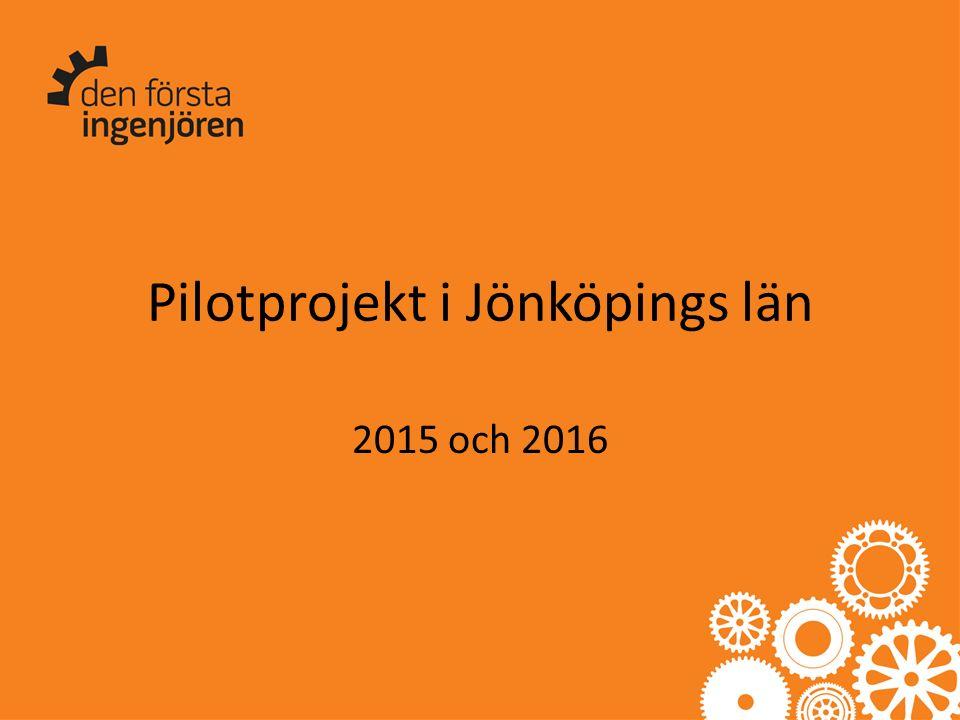 Pilotprojekt i Jönköpings län 2015 och 2016
