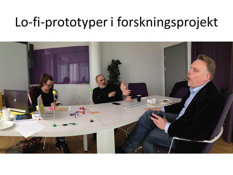 Lo-fi-prototyper i forskningsprojekt