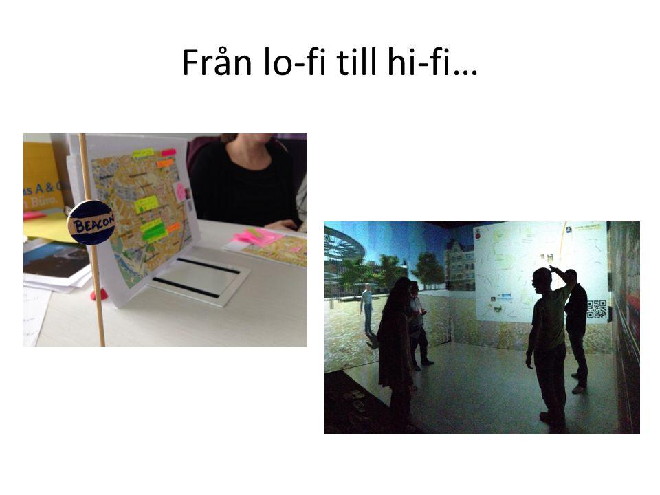 Från lo-fi till hi-fi…