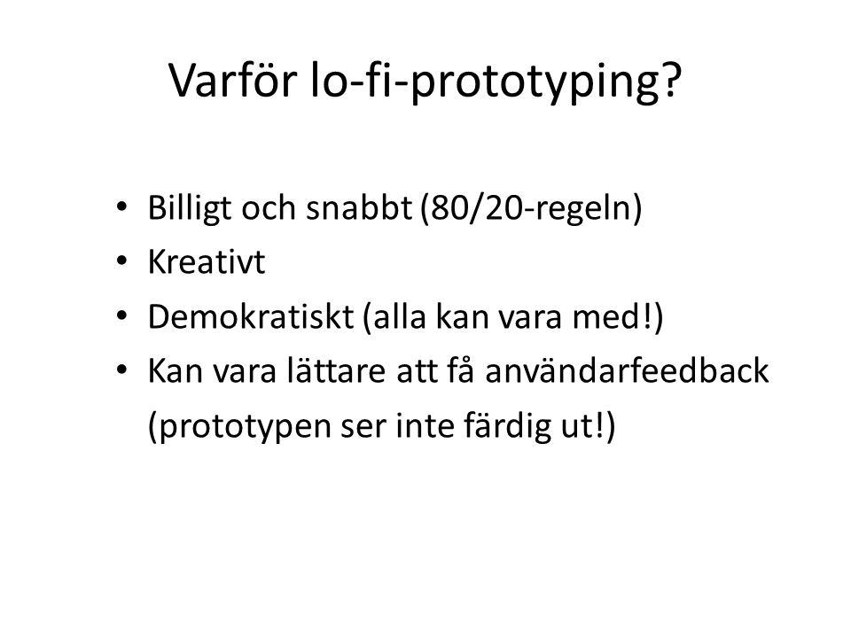 Varför lo-fi-prototyping.