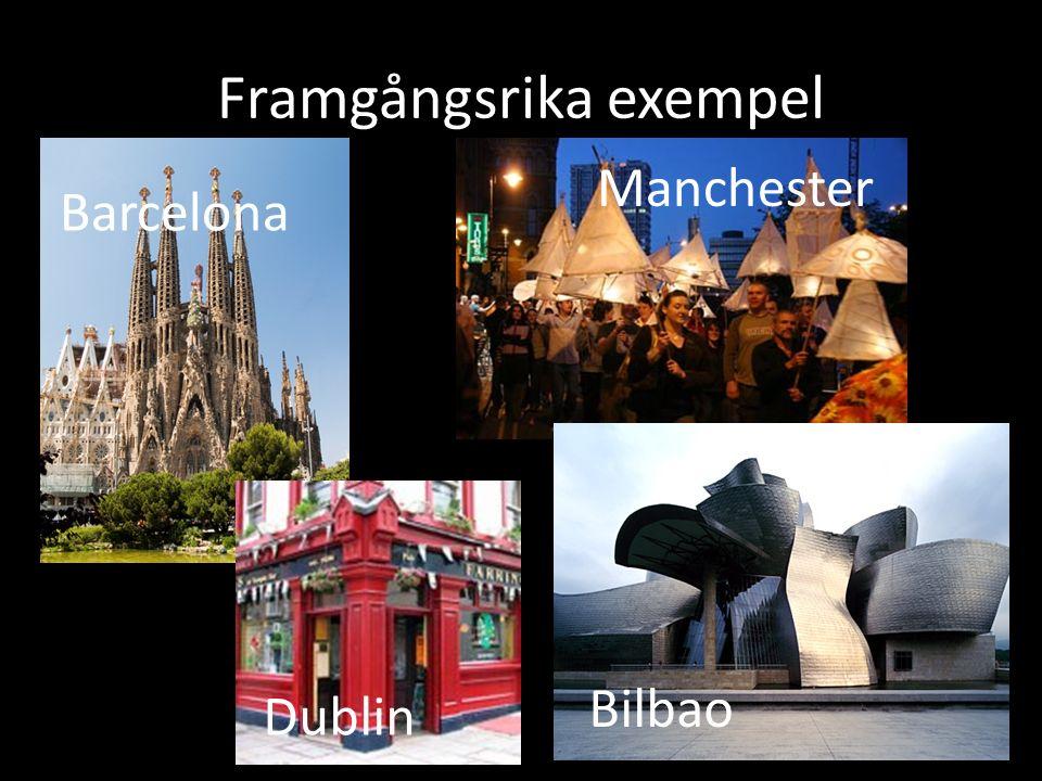 Framgångsrika exempel Manchester Dublin Barcelona Bilbao